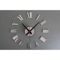 ORI DIY Giant Wall Clock 30-60cm - ELET00662   Jam Dinding - Silver 16f3c0efb7