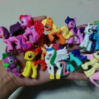 KOLEKSI BARU 12 pcs My Little Pony boneka figure hiasan kue topper MY