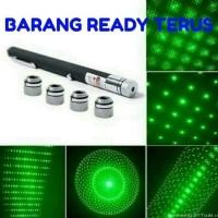 BARU Promo senter laser hijau 5 mata green laser pointer 5 eyes Murah