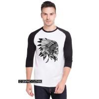 sz graphics t shirt pria kaos pria baj pria raglan 3/4 skull art