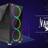 CUBE GAMING VARDE - mATX - FRONT & LEFT SIDE TEMPERED GLASS - NO FAN