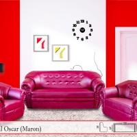 Sofa Tamu 321 Merk Halo Type Ideal Oscar (KULIT)