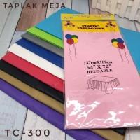 Taplak Meja Plastik Polos / Plastic Table Cover