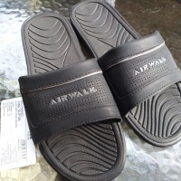 Sandal Slop Airwalk Original Juna Slip On Black Grey