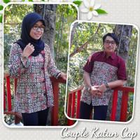 couple batik/baju couple/seragam batik/seragam kantor/batik cap/jogja