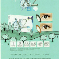 softlens warna x2 bio mata sensitif baby eyes hitam brown ready minus