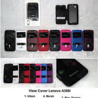 TERMURAH !!! LENOVO A369I LEATHER CASE S VIEW COVER CASING CASE