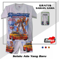 Kaos/ Baju Stelan Anak TRANSFORMER