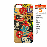 Skateboard Logos DC Vans Adidas Billabong case iphone 5s 6s 7 8 x Plus
