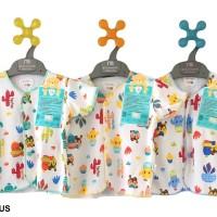 baju untuk anak anak LIBBY 3pcs Baju Lengan Pendek Motif 0 3 Bulan
