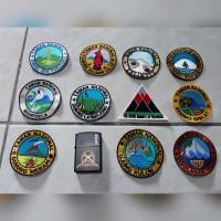 bordiran gunung/emblem/bedge/patch gunung dan taman nasional