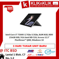 MICROSOFT Surface Pro 5-7500U-8GB-256GB - 31437