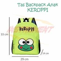 Tas Ransel Sekolah Anak Kero Keroppi Backpack Kodok Lucu Kado Unik