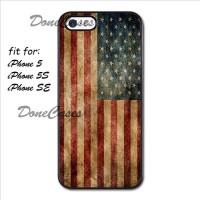 Casing iPhone 5 5S Usa Flag Hard Case Custom