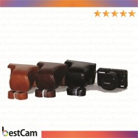 Leather Case For Canon Eos M10 Kit 15-45mm