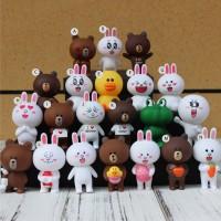 Hiasan Dekorasi Kue Ulang tahun Valentine Line Friends Brown Figure