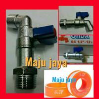 Kran air taman ONDA BC+seal tape pompa air jet pump panasonic sanyo