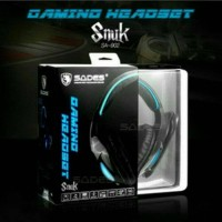 Berkualitas Sades Snuk SA902 SA 902 Headset Gaming 7 1 LED biru