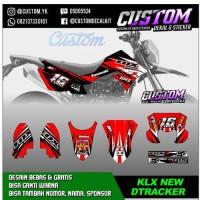 D3 Decal KLX NEW DTRACKER 2016 Dekal Sticker Striping BF /G Stiker Ful