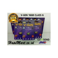 V-GEN MICRO SD 16GB Class 6 Garansi LIFE TIME WARRANTY ORIGINAL