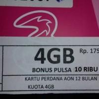 Perdana tri aon 4 gb + pls 10000 (kuota REG 4G hp , handphone termurah