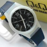 Jam tangan Q Q anak perempuan VQ 50 biru tua transparan QQ VQ50 ori