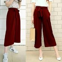 Celana Panjang Pende Wanita Celana kulot Maroon [Celana Rok Wanita