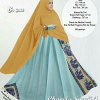 Baju Muslim Wanita 10900 CHANELA SYARI 4 GOLD Gamis Trendy