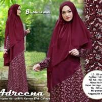 Baju Muslim Wanita 10208 ADREENA MARON Gamis Trendy