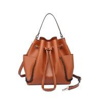 SAG4102#Brown / ZARA Drawstring Bucket Bag / Fashion Bag 2018
