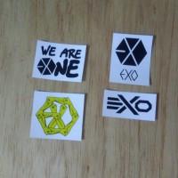 Sticker K-Pop digital cutting EXO Logo Series (M)