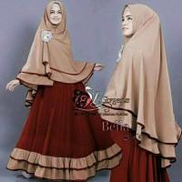Promo Syari Bella Black G Gamis Long Dress Hijab Wanita Muslimah Model