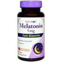 Murrmerr01 Natrol Melatonin Fast Dissolve Strawberry 5Mg 90 Tabs Oke