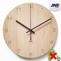 Jam Dinding Unik dari Kayu Basik Maple Number