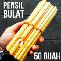 Pensil Polos Kayu Round HB 16 cm / Bulat Bundar 98% Baik per 50 buah