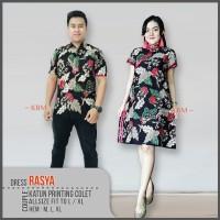 Baju Couple Dress cheongsam Dan Kemeja Batik rasya dan fatin