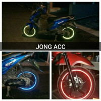 Sticker List Velg Pelek Motor Mobil Glow In The Dark Reflective Tape