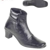 Sepatu Wanita Bahan Kulit Boots tta 4866 Zeintin