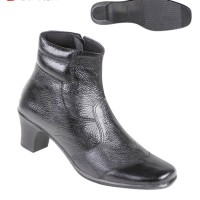 Sepatu Wanita Bahan Kulit Boots tta 4868 Zeintin