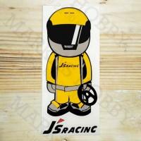 Stiker Honda JS Racing Helmet