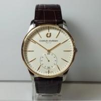 Charles Jourdan CJ1021-1322 Gold Brown Leather Watch