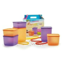 Summer fun tupperware set / toples tuppy rainbow / promo diskon murah