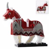 Lego Knight Wars Horse Medieval Roma Minifigure Bootleg