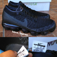 a93873a6c972 Sepatu Running Nike Air Vapormax Flyknit All Black 924501-001