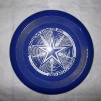frisbee / piring terbang/ flying saucer disc biru