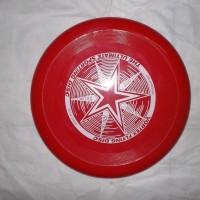 frisbee / piring terbang/ flying saucer disc merah