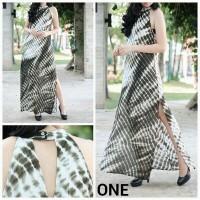 Long Dress Branded - One Seaweed Slits