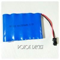 Batere Mobil Remot R/C 6V 1000mAh Socket Hitam Batre Baterai
