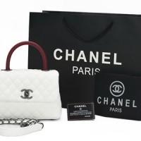 Tas Chanel Coco Top Handle Caviar Mini PUTIH-Maron AC1147 e02c3fee56