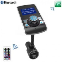 T12 FM Transmitter In-Car Bluetooth Receiver Stereo Radio Car Kit
